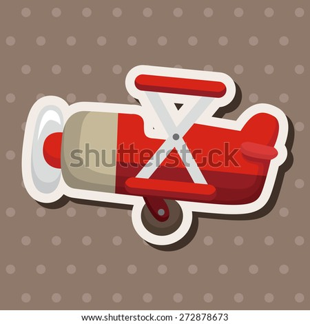 transportation airplane theme elements - stock vector