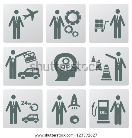 Transportation and business human,icons,Vector - stock vector
