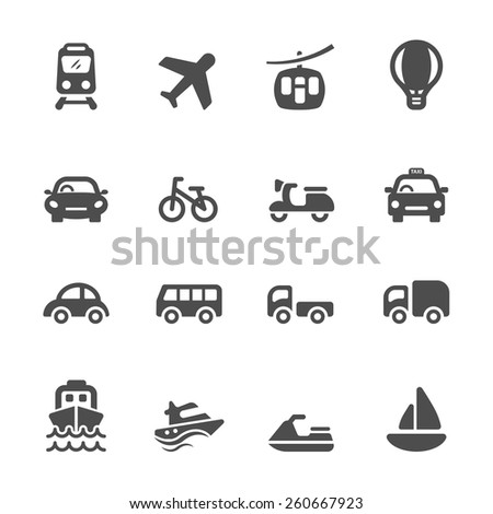 transportation and vehicle icon set, vector eps10. - stock vector