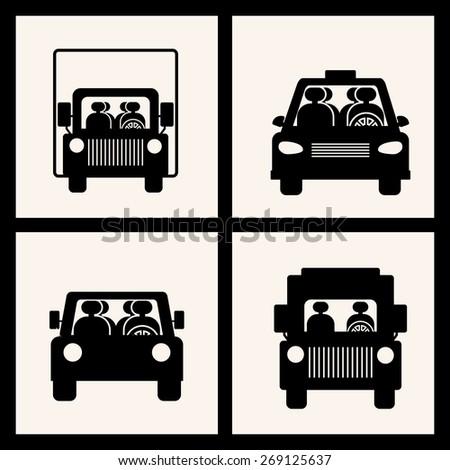 Transportation design over black background, vector illustration - stock vector
