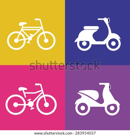 Transportation design over colored, motorcycle, bacckground, vector illustration - stock vector