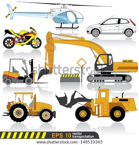 transportation facilities - stock vector