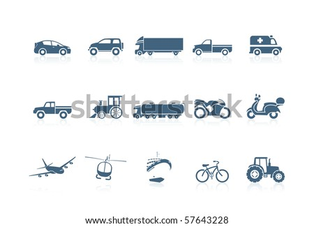 Transportation icons - stock vector