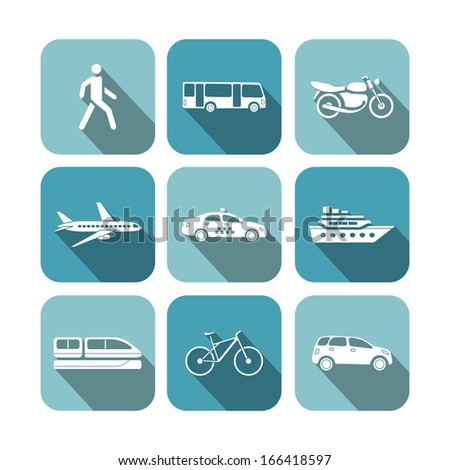 Transportation icons set vector illustration - stock vector