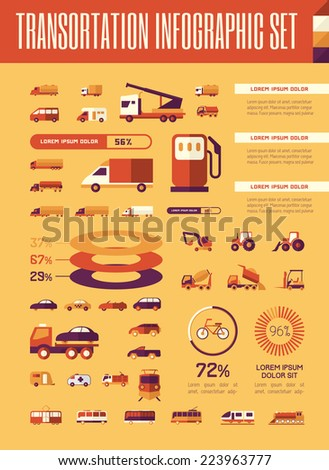 Transportation Infographic Template. - stock vector