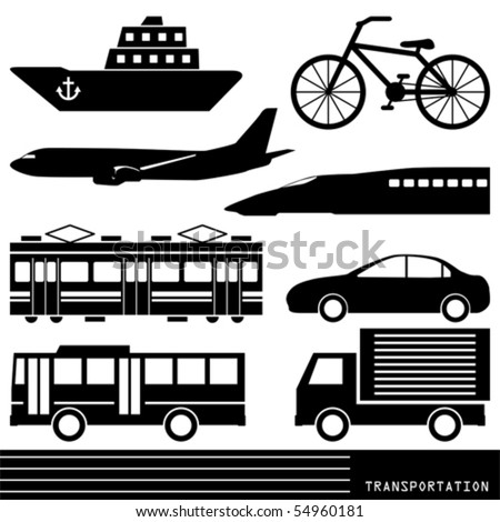 Transportation silhouette - stock vector