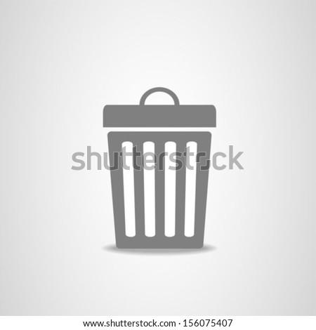 Trash bin icon - stock vector