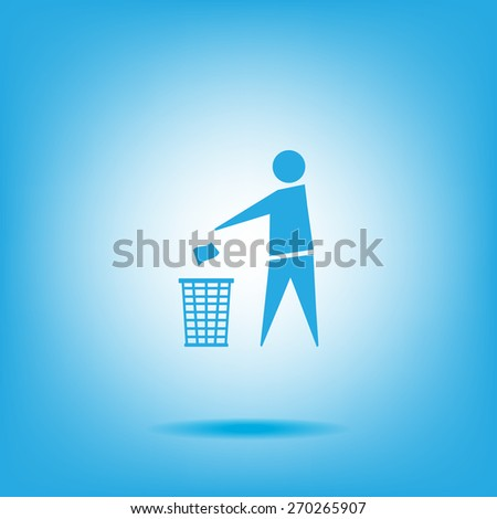 Trash bin icon great for any use. Vector EPS10. - stock vector