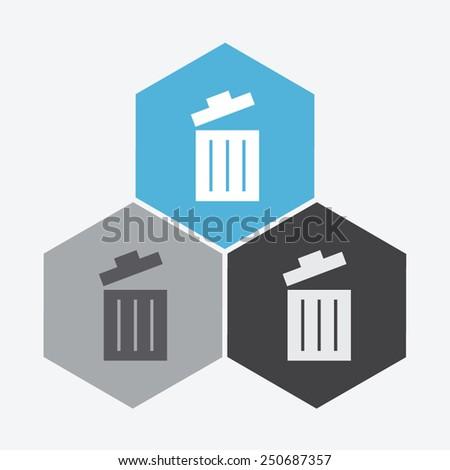 Trash bin vector icon. - stock vector