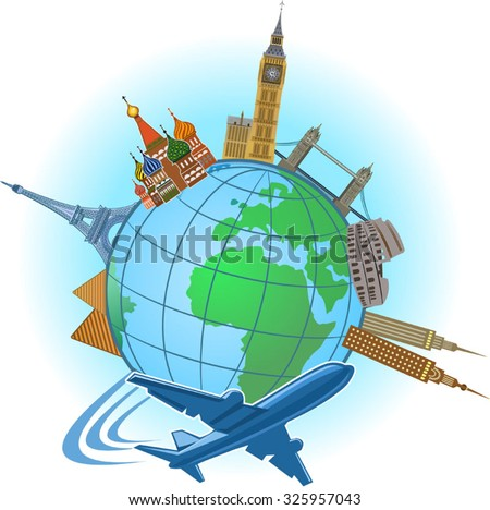 Travel and tourism - stock vector