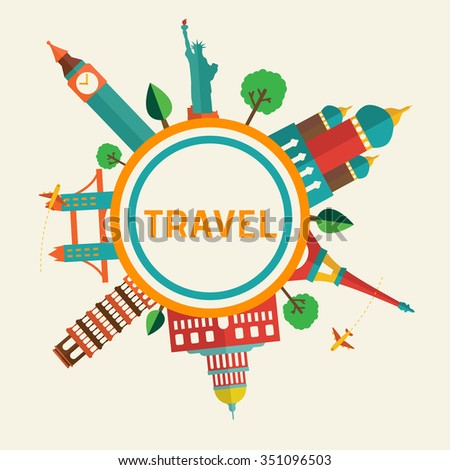 Travel and tourism background and infographic - stock vector