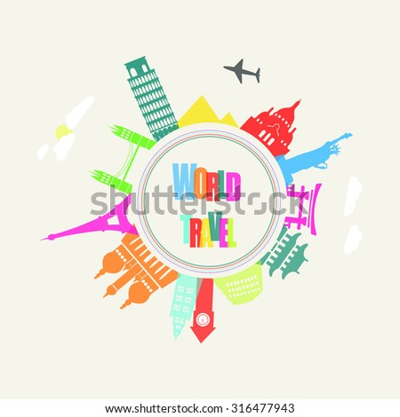 Travel and tourism background and infographic.Vector illustration. - stock vector