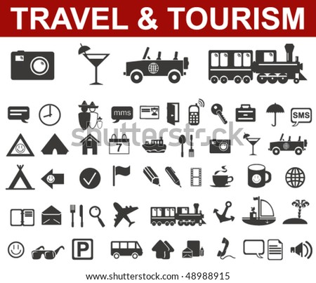 Travel and Tourism Icons Set - stock vector