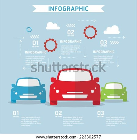 Travel and transport infographics - stock vector