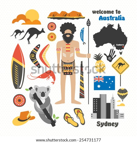 travel Australia - stock vector