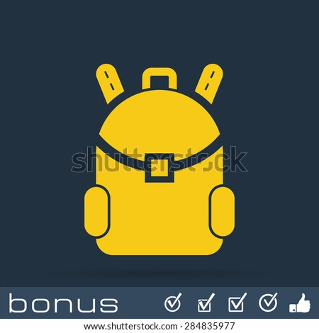 travel bag icon - stock vector