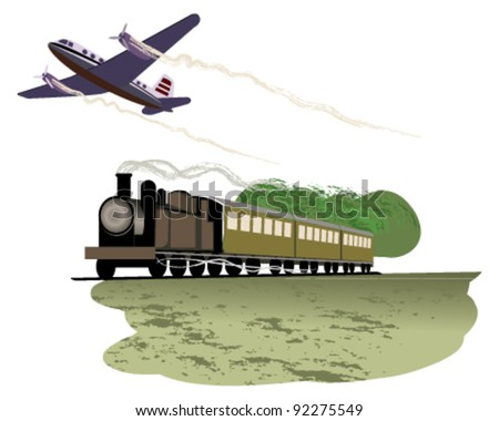 Travel by transport - stock vector
