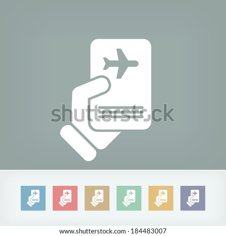 Travel document - stock vector