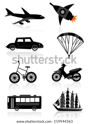 Travel icon set - stock vector