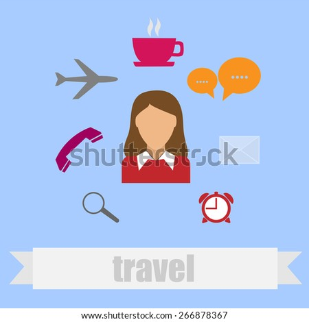 Travel icons design   - stock vector