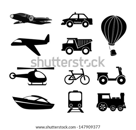 travel icons over white background vector illustration  - stock vector