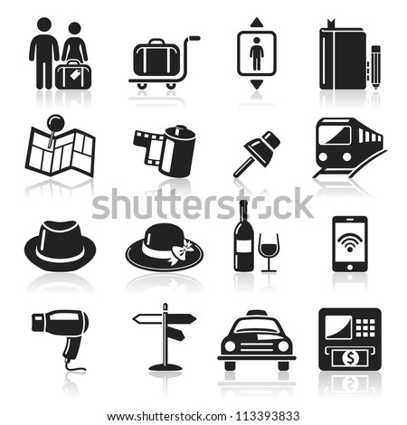 Travel icons set2. vector eps 10 - stock vector