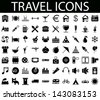 Travel Icons Vector Set. Easy to edit. - stock vector