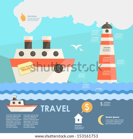 travel infographic - stock vector