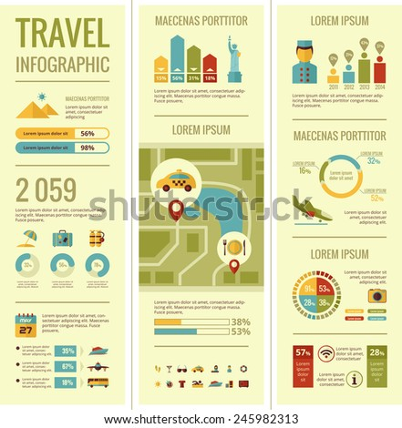 Travel Infographic Elements. - stock vector