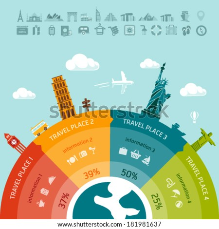 Travel infographics. Easy to replace design elements and infos - stock vector