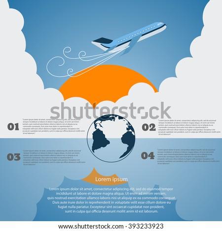 Travel infographics vector eps 10 illustration - stock vector