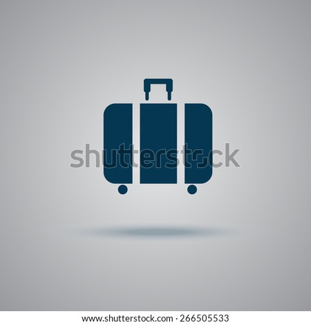 travel, luggage, suitcase, icon, flat, vector, illustration   - stock vector