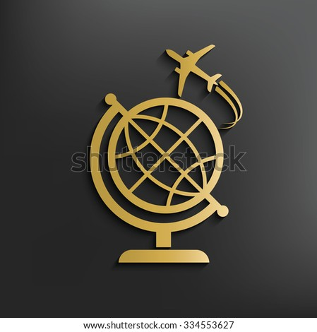 Travel on dark background,clean vector - stock vector