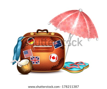 Travel Set - stock vector