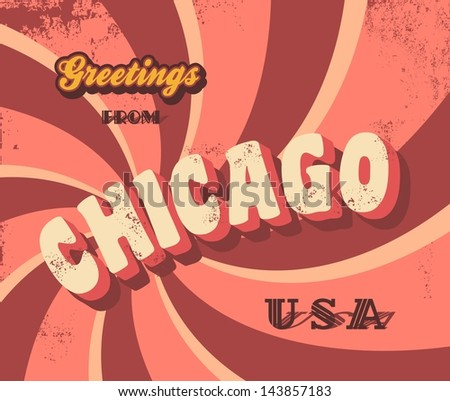 travel sign of Chicago - stock vector