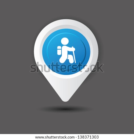 Travel sign,vector - stock vector