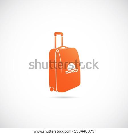 Travel suitcase symbol icon - stock vector