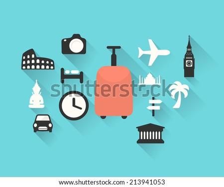 Travel theme vector illustration - stock vector