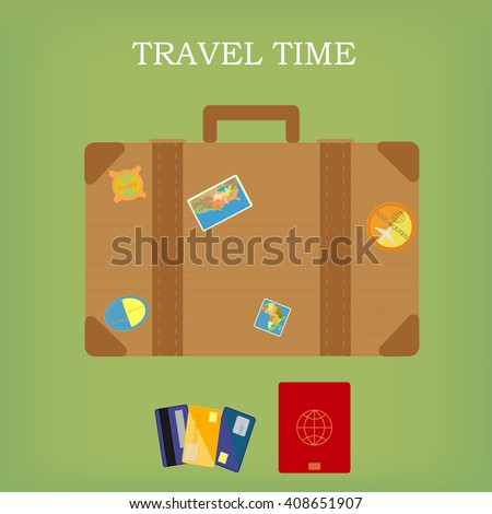 travel time / flat design / vector illustration  - stock vector