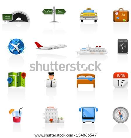 Travel/Vacation icon set! - stock vector