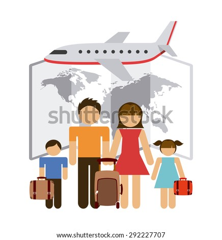travel vacations design, vector illustration eps10 graphic  - stock vector