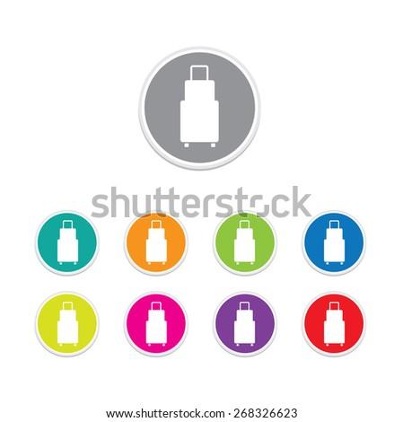 Traveling Bag icon set, Vector illustration - stock vector