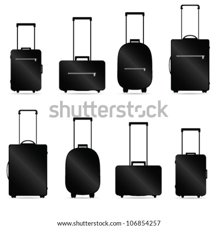 traveling bag vector illustration - stock vector