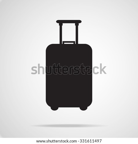 Traveling baggage icon , vector EPS 10. - stock vector