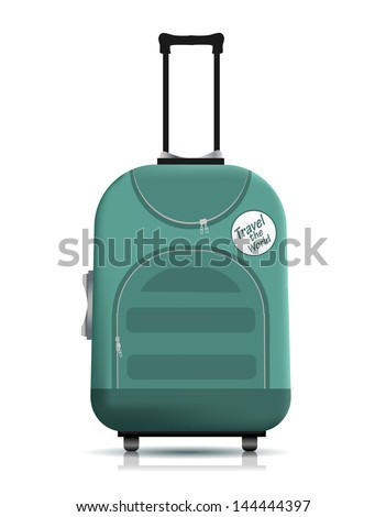 Travell suitcase - stock vector