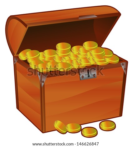 Treasure Chest clip-art - stock vector
