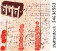Treasure Chest Document Background - stock vector