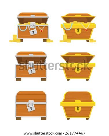 Treasure Chest Vector - stock vector