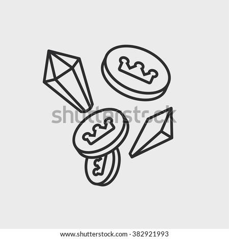 treasure elements - stock vector