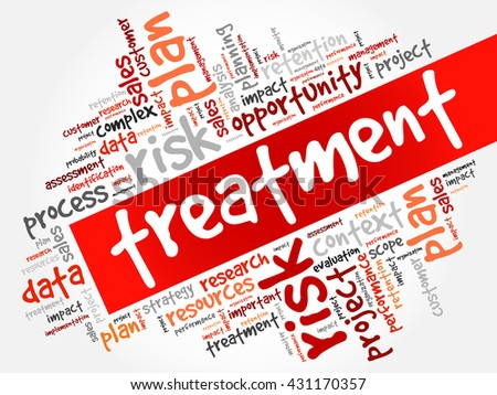 Treatment word cloud, business concept - stock vector